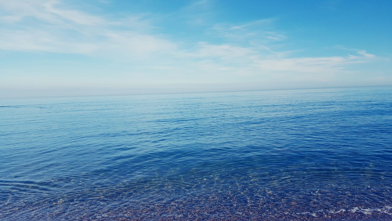 Sea Beach Water Oceans And Sky Tranquility Blue Sky Horizon Over Water Idyllic Vacations Cloud - Sky Landscape Nature Sunny Sun Sand Tranquil Scene Beauty In Nature Relaxation Scenics Reflection Big Blue Big Blue Sky With Clouds Beachphotography BEACH!