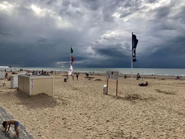 Oostende, Belgium, Beach, Clouds