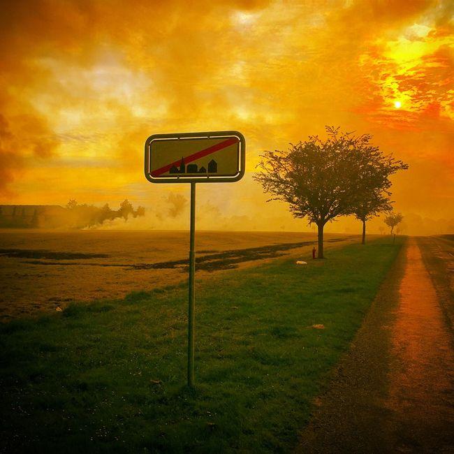 Controlled field burning outside my village Burning Farming Farm Life Denmark Jersie Hello World
