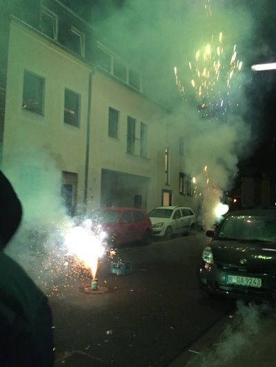 Car Smoke - Physical Structure Street Illuminated Night Architecture Building Exterior Built Structure Danger Exploding Road No People Burning Land Vehicle Transportation Heat - Temperature Water Destruction Motion Outdoors