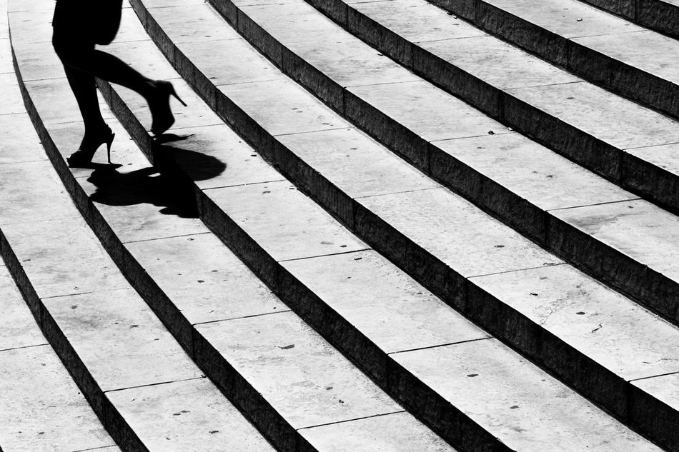 Only Women People Adult Human Leg Outdoors One Person Women Lifestyles Human Body Part City The Secret Spaces City Art Is Everywhere Streetphotography Girl One Woman Only HighHeels Highheelshoes Stairs_steps Stairs Stairs Down EyeEmNewHere
