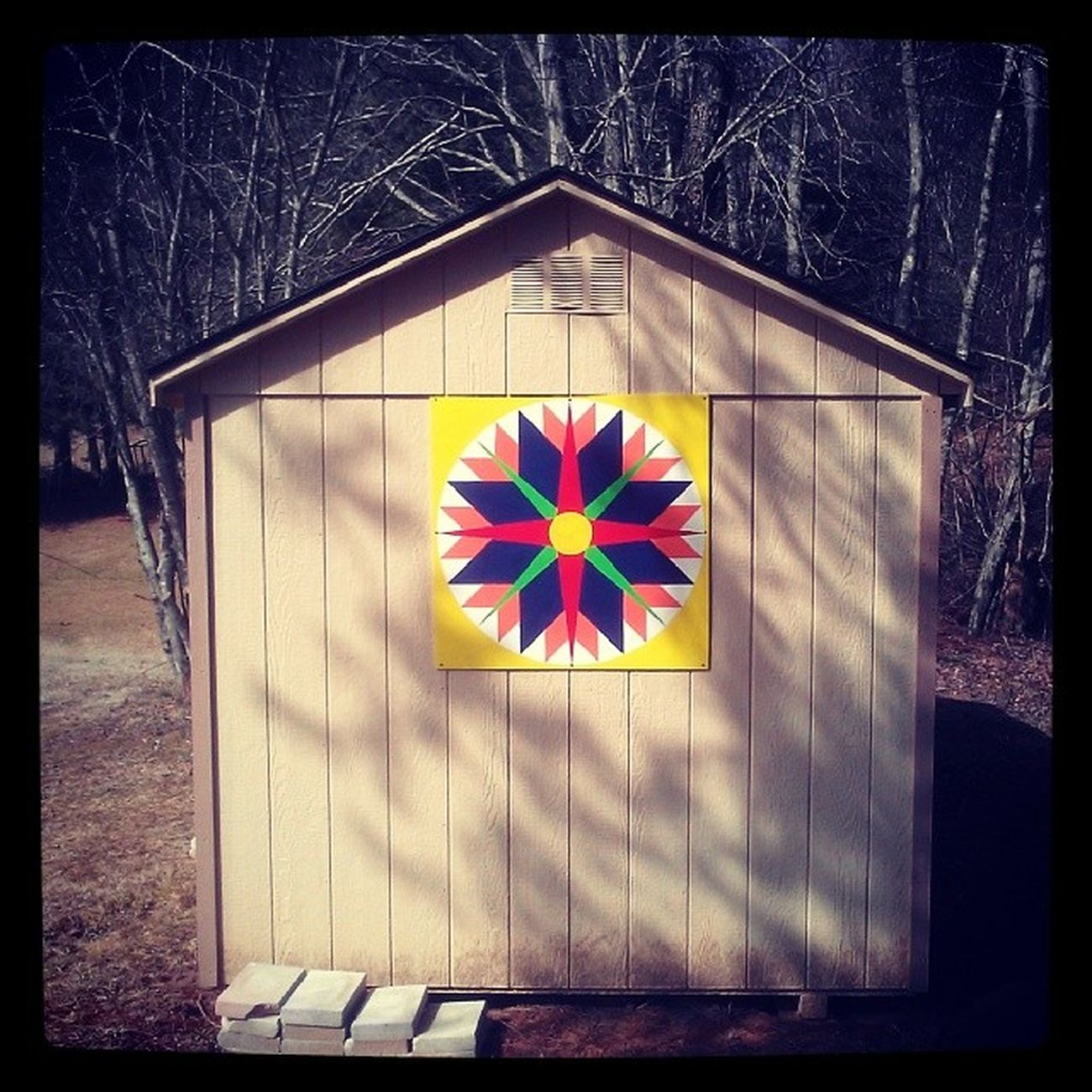 Hex symbol on shed Northcatolina Appalachia Mountains Styx shed sign backcountry farmland