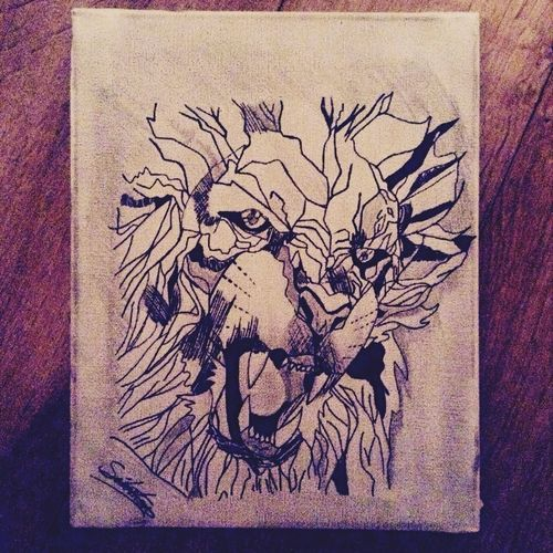 Drawing Lion Face Dessin