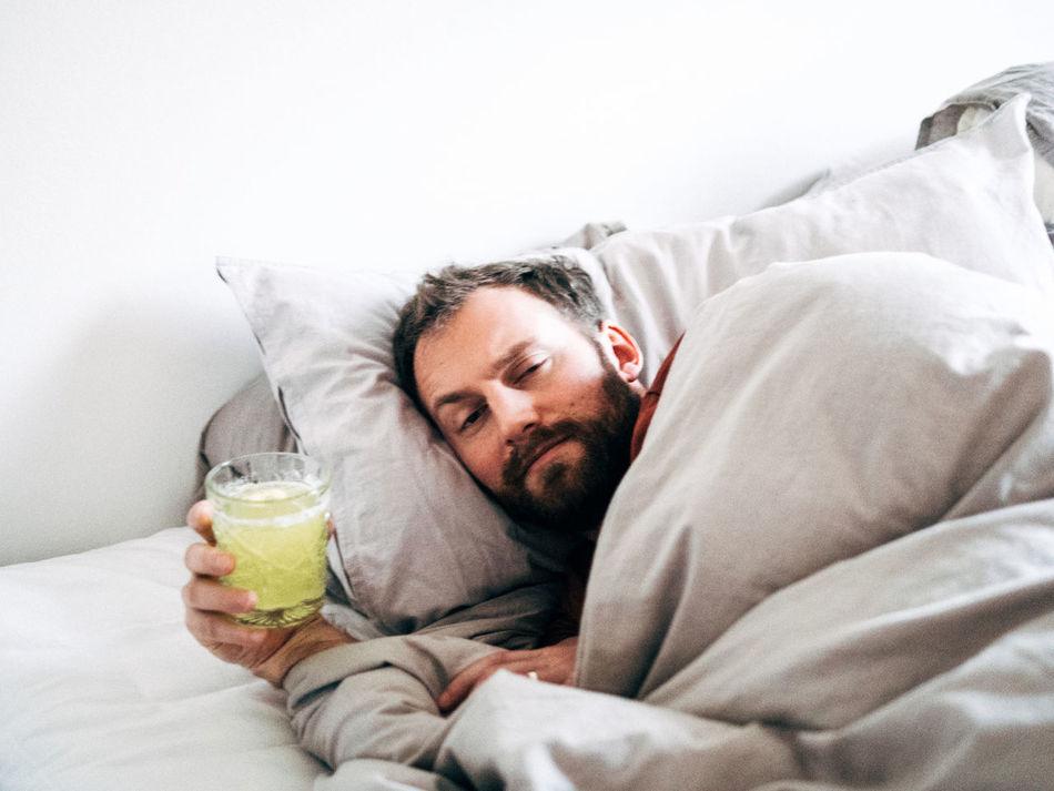 Beautiful stock photos of mustache, 30-34 Years, Beard, Bed, Blanket
