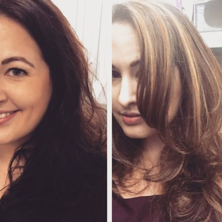 My number one cruelty free beauty blogger,Jennifer Mathews @mybeautybunny Jen is going Blonde We have a 3 step plan. 3 appointments. Blondehairdontcare Blowout Hairstylist hair haircolorist beverlyhillshaircolorist beforehair afterhair scissorsalute