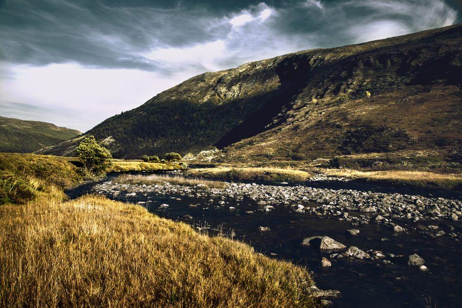 Trying out new styles Cloud - Sky Grass Hill Landscape Nature Outdoors River Rondane Rondanenasjonalpark Scenics Travel