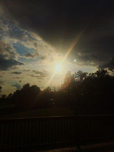The sunset yesterday at mi casa🌞 Nature Cloud - Sky Sunlight First Eyeem Photo