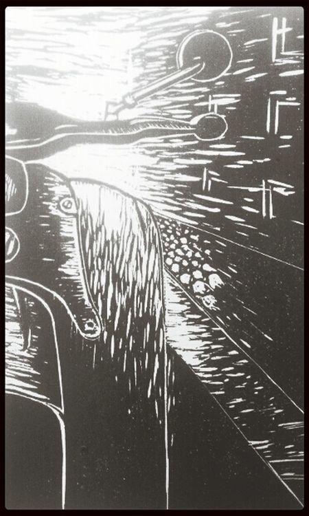 Hochdruck Art Drawing Blackandwhite