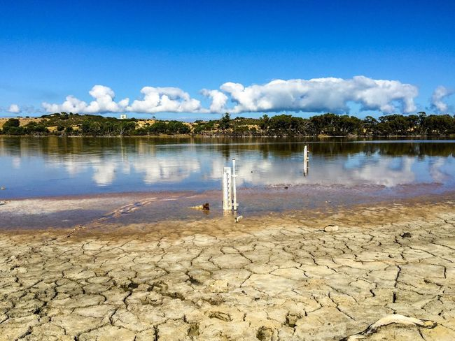 Water Level: Drought Drought At Lake Western Australia Cracked Lake Coogee Bottom Of The Lake Soil Wetland Swamp Drought Dried Out Landscape Wetland Landscape Nature Water Lake Water Reflections Reflections Trees Clouds And Sky Conservation Reserve Measurement Water Level Water Level Indicator