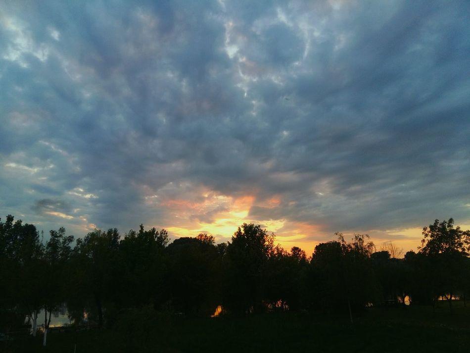 Spring Faded Sunset Beyond The Sky Slavonski Brod