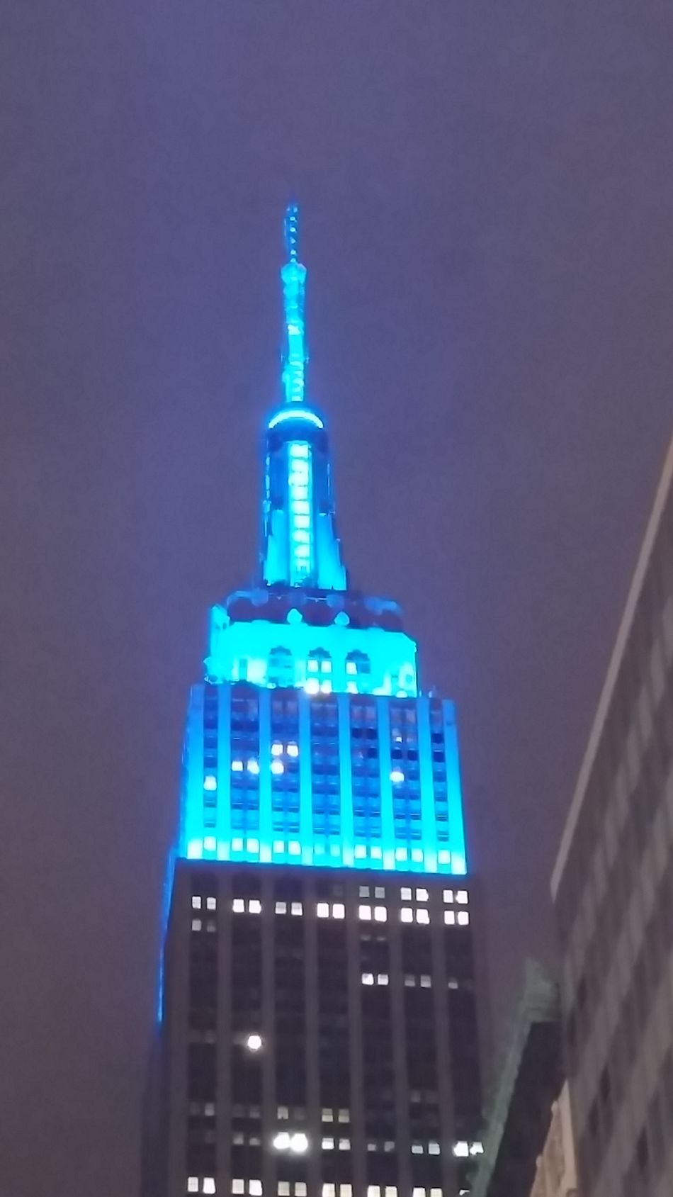 Empire Of Lights Empire State Building Enjoying The View From My Point Of View