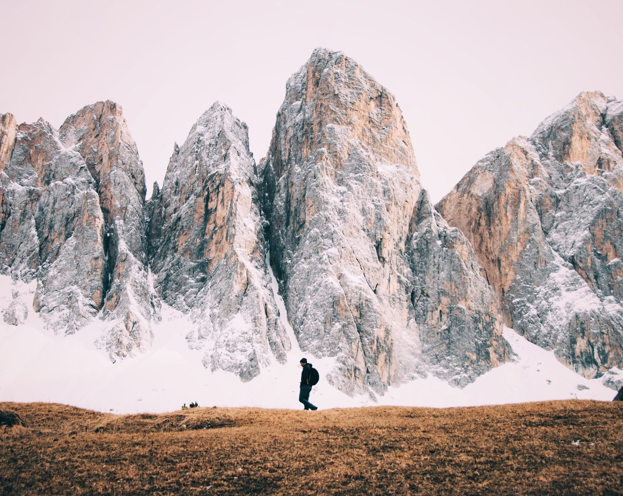 The Great Outdoors - 2017 EyeEm Awards Mountain One Person Adventure Mountain Range Scenics Snow Landscape Nature Hiking Dolomites, Italy Alps Giant Outdoors Rocks Day Travel Destinations