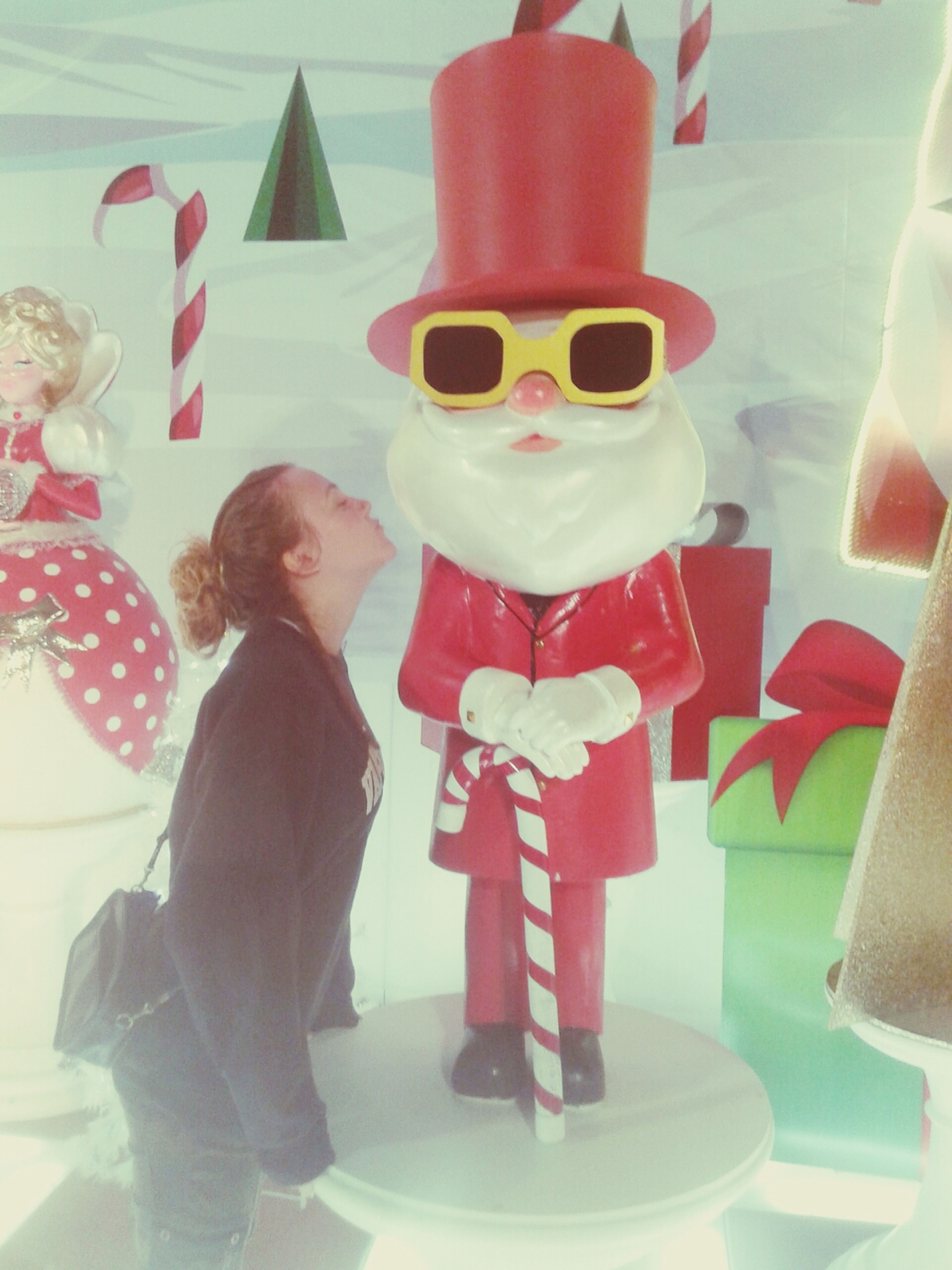 Dear Santa Santa Claus Taking Photos Kissing Santa