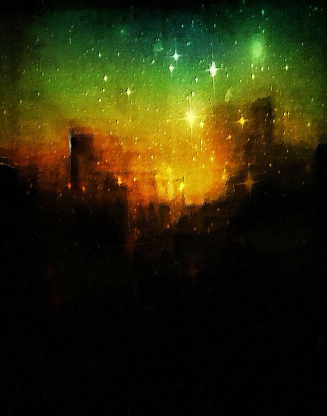 Star City. Imaginary Landscapes ArtWork Art Awehaven Art