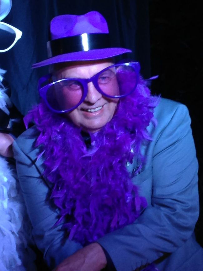 Casual Clothing Front View Giant Glasses Hat Lifestyles Mature Adult Person Purple Purple ♥ Warm Clothing Wedding Fun!