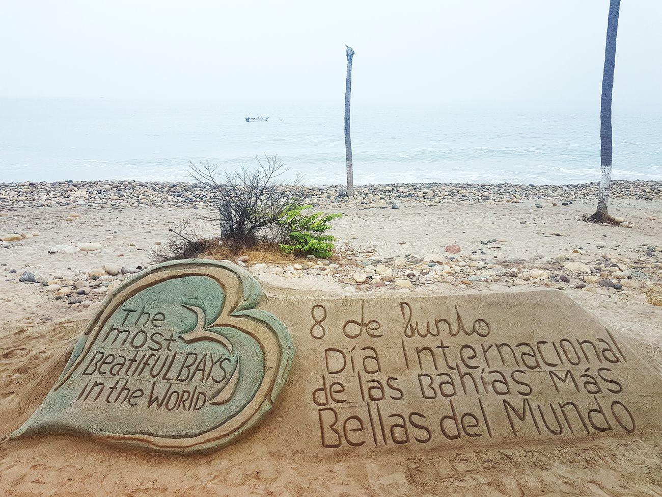 International Day Bays InTheWorld Mexico Beach Sand Water Sea Sky Horizon Over Water Life Colors Heart Malecon Vallarta,Mexico