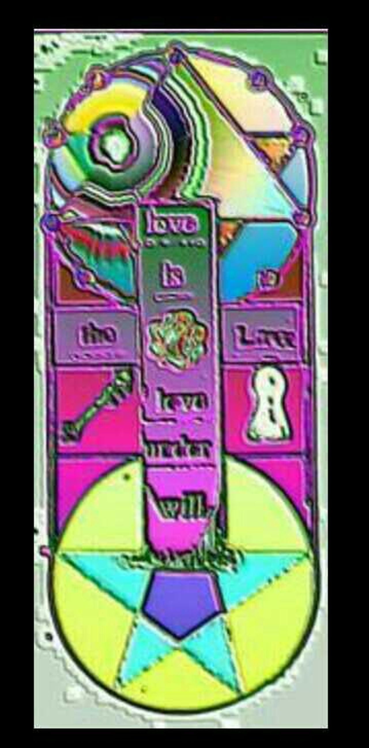 Grafic Design Drawing graffic design Tarot Esoteric Cross Spiritual Spirituality Love Is The Way Love Love Is... Law Will Free Will Aleister Crowley Aleistercrowley Hippykid Kreatives Religious Art Pastel Power