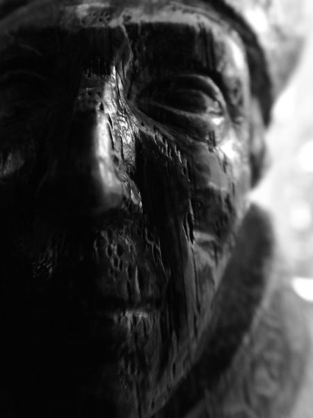 Ancient Art Buddha Carving - Craft Product Close-up Creativity Day Detail Focus On Foreground No People Old Sculpture Selective Focus Statue Stone Material The Past Wooden Face