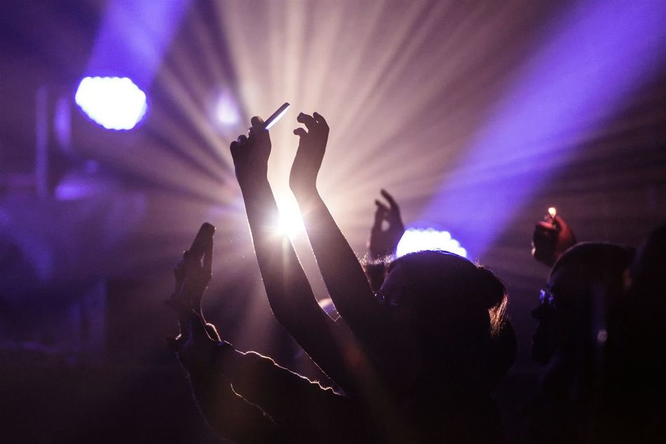 Beautiful stock photos of concert, Arms Raised, Arts Culture And Entertainment, Audience, Celebration