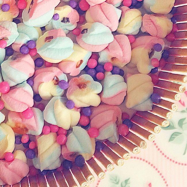 Birthday Cake Marsmallow Candy Sprinkles Cute Cake!!! Pastel Colors Cute Cake Eyeemphotography Photography Full Colors  Cake Photography ❤ Cake Topping Sweet Cute♡