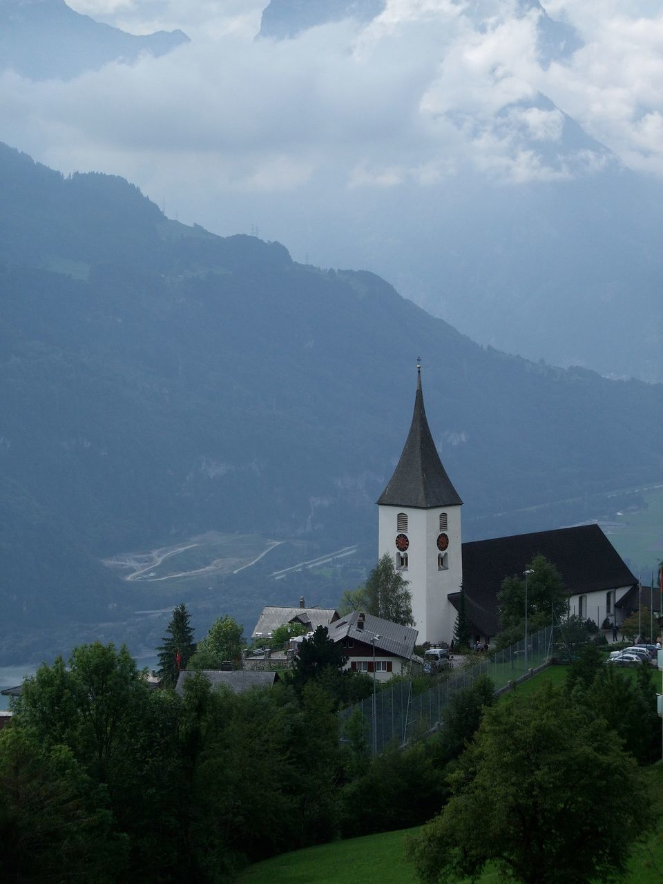 Church Against Mountain