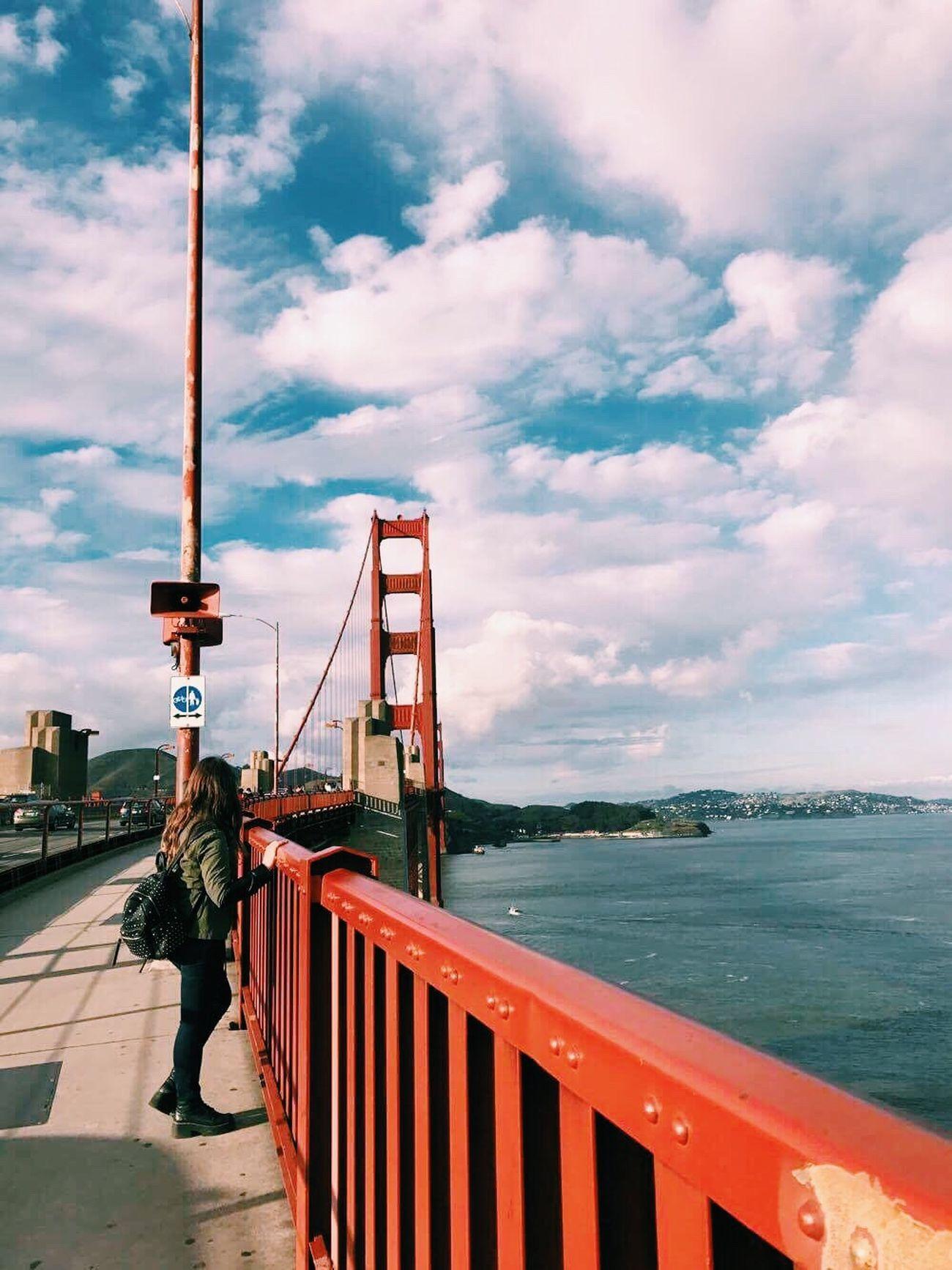 Sky Water Outdoors Architecture Bridge - Man Made Structure Sea Golden Gate Bridge San Francisco California USA Roadtrip Brunette