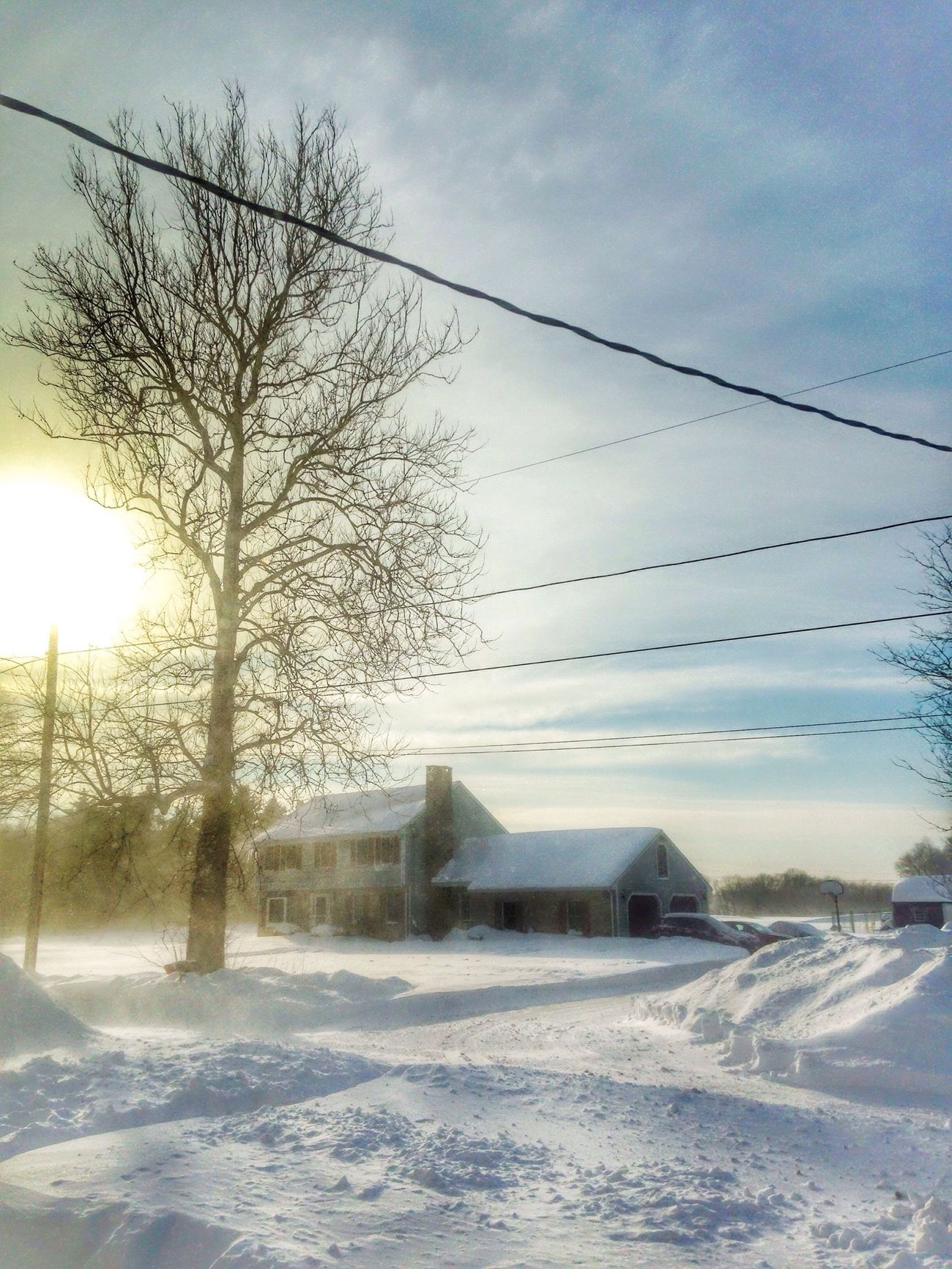 Oh sunshine!!!.... Taking Photos The View From My Window OpenEdit IPhone Photography Sunshine Snow ❄ Blizzard 2015 February 2015 Massachusetts How's The Weather Today?