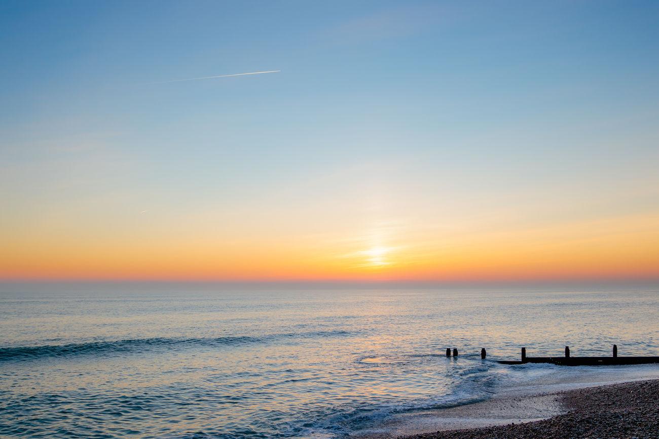 Orange Sunset. Beach Horizon Over Water No People Orange Sky Orange Sky Sunset Sea Sea And Sky Sky Sunset Sunset_collection