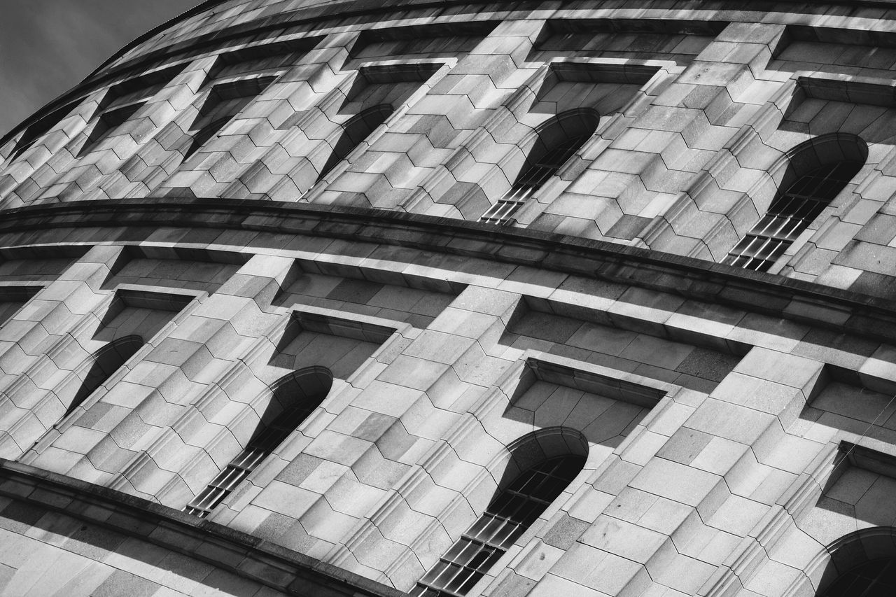 Architecture Blackandwhite Built Structure Contrasts Geometry Low Angle View Neoclassical Architecture The Architect - 2017 EyeEm Awards Windows