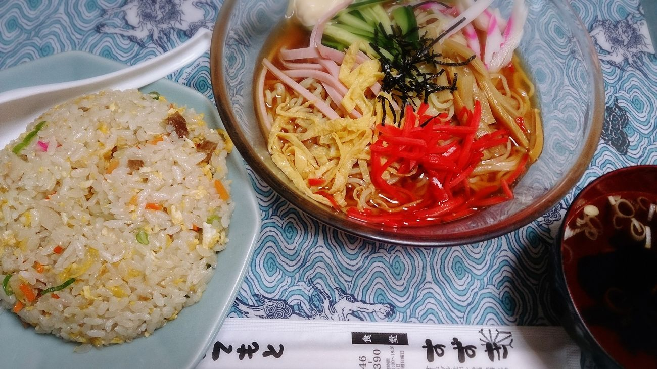 すずき食堂の出前☆ Food Porn Yummy Japanese Food Noodles Inmymouf Lunch 冷やし中華 Friedrice