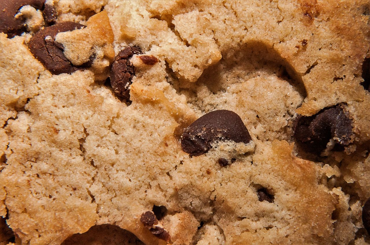 Fresh Baked Chocolate Chip Cookie Close Up Baking Chocolate Chip Chocolate Chip Cookie Close-up Cookie Dessert Food Food And Drink Fresh Freshness Homemade No People Sweet Sweet Food