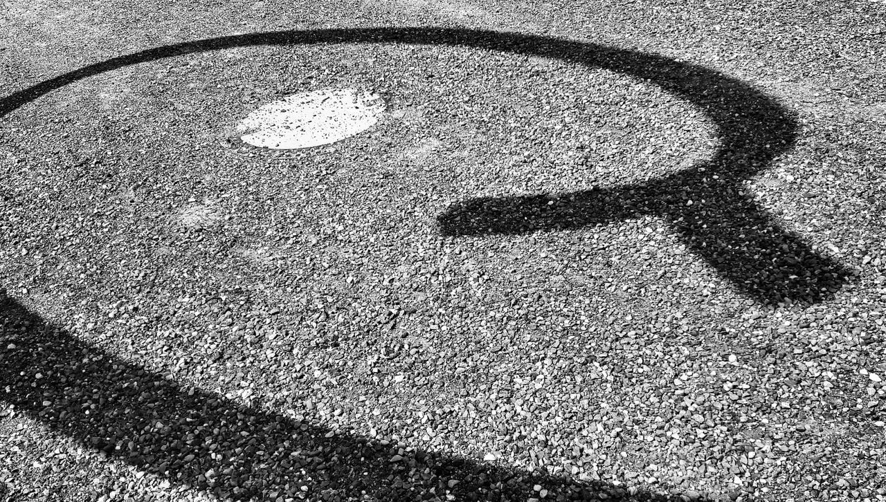 Art Is Everywhere Shadow Shadowdetail Of A Sculpture Kunstgrenze Bnw Bnwphotography Gravel Path Pattern Full Frame Outdoors Symbol No People Borderline Close-up Ornament