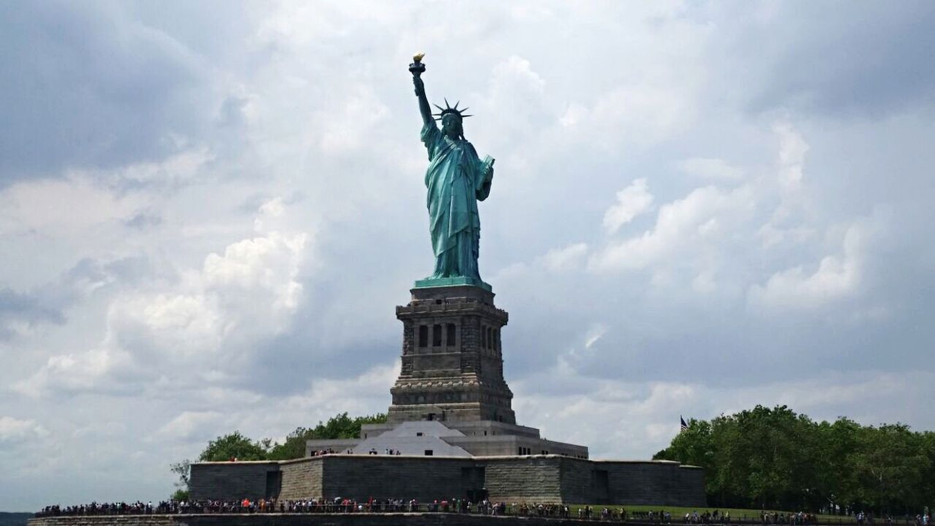 Travel Destinations Statue Tourism Sky Day New York Liberty Statue U.S.A Love The Moment Travel Monument City
