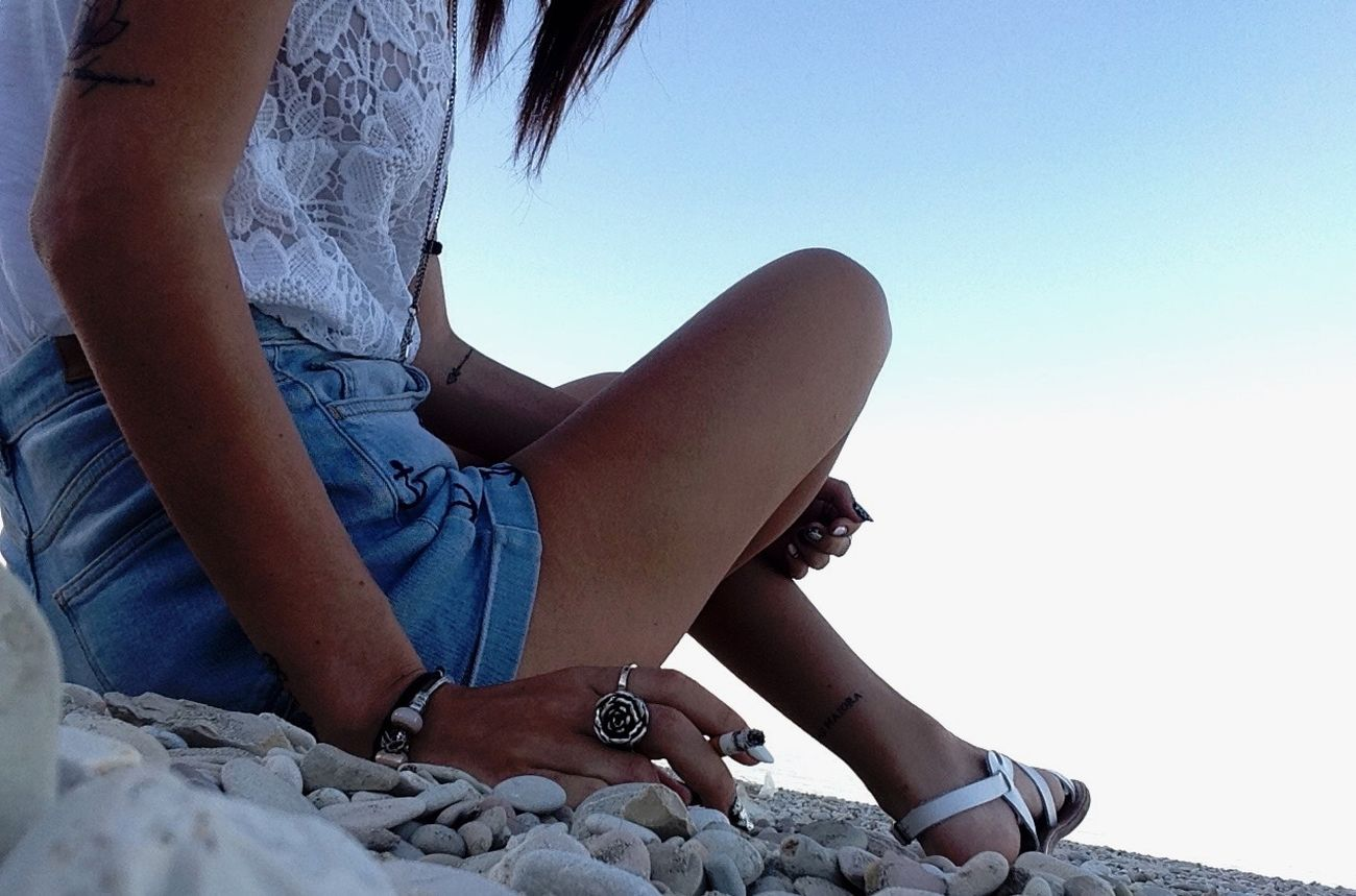Low Section Relaxation Person Person Footwear Human Foot Cliff Tranquil Scene Solitude Tattoo Tattoos Smoke Girl Photooftheday Photo Photography Blue