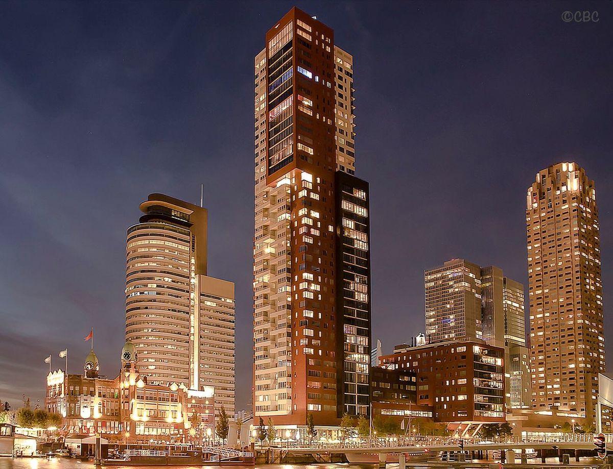 City Rotterdam010 Rotterdam Skyline Wilhelminapier Architecture