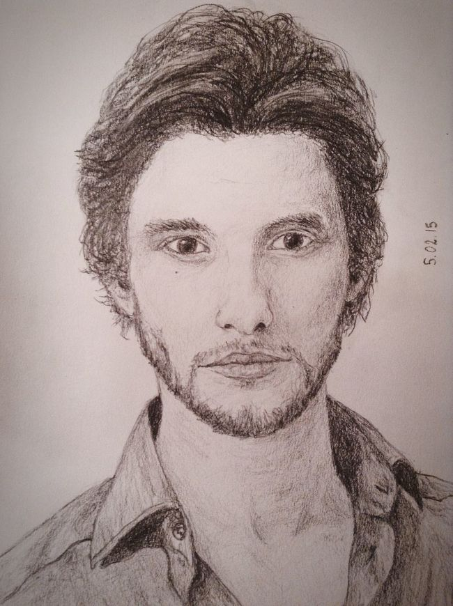 Ben Barnes❤️✏️? Pencil Drawing Fanart Cool Exciting, Drawing Art Cute Portrait Beautiful Love