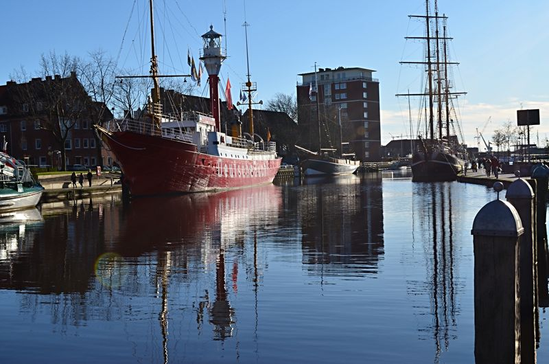 winter walk around the delft Transportation Mode Of Transport Nautical Vessel Water Outdoors Moored Reflection