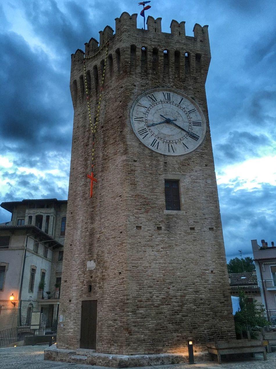 Cities At Night San Benedetto Del Tronto Gualtieri Tower Torre Dei Gualtieri Symbol Marche Region Italy Night Architecture