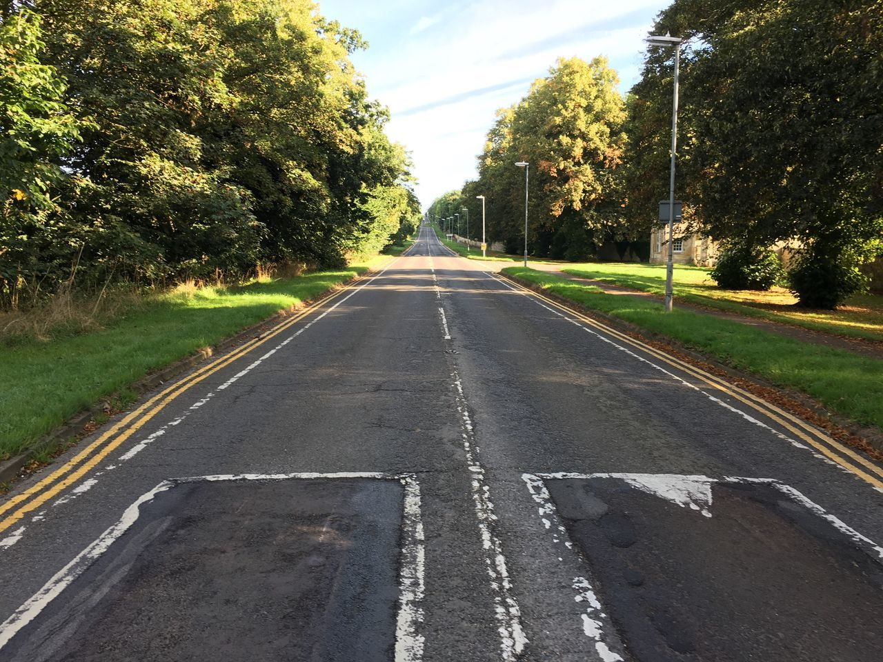 Watling Street Roman Road Tree Transportation Road Marking Road The Way Forward Diminishing Perspective Empty Empty Road Green Color Day Outdoors Growth Dividing Line Tranquil Scene Vanishing Point Nature Straight Scenics Towcester