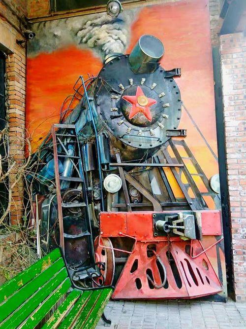 Art Is Everywhere Beijing 798artzone Streetart Train Wall Wall Painting