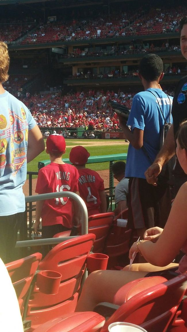 Wishing they were in the dugout @ the Stl Cards game. Baseball Life Baseball Future Cardinal