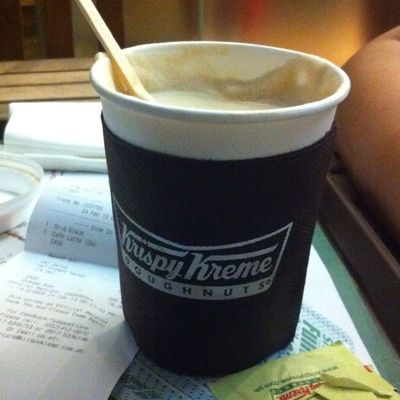 Coffee at Krispy Kreme by Ljohannamay