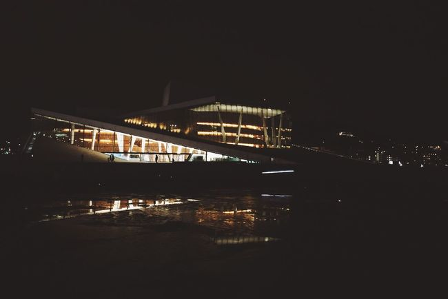 Good night : Oslostreets Architecture Building Mobilephotography Opera House Wather Reflections