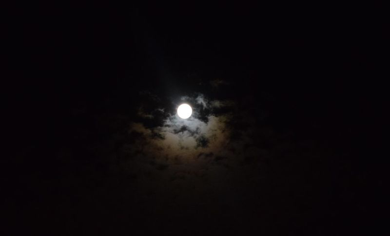 Moon Nikon Astronomy Dark Illuminated Moonlight Nature Night No People Sky Space Space Exploration