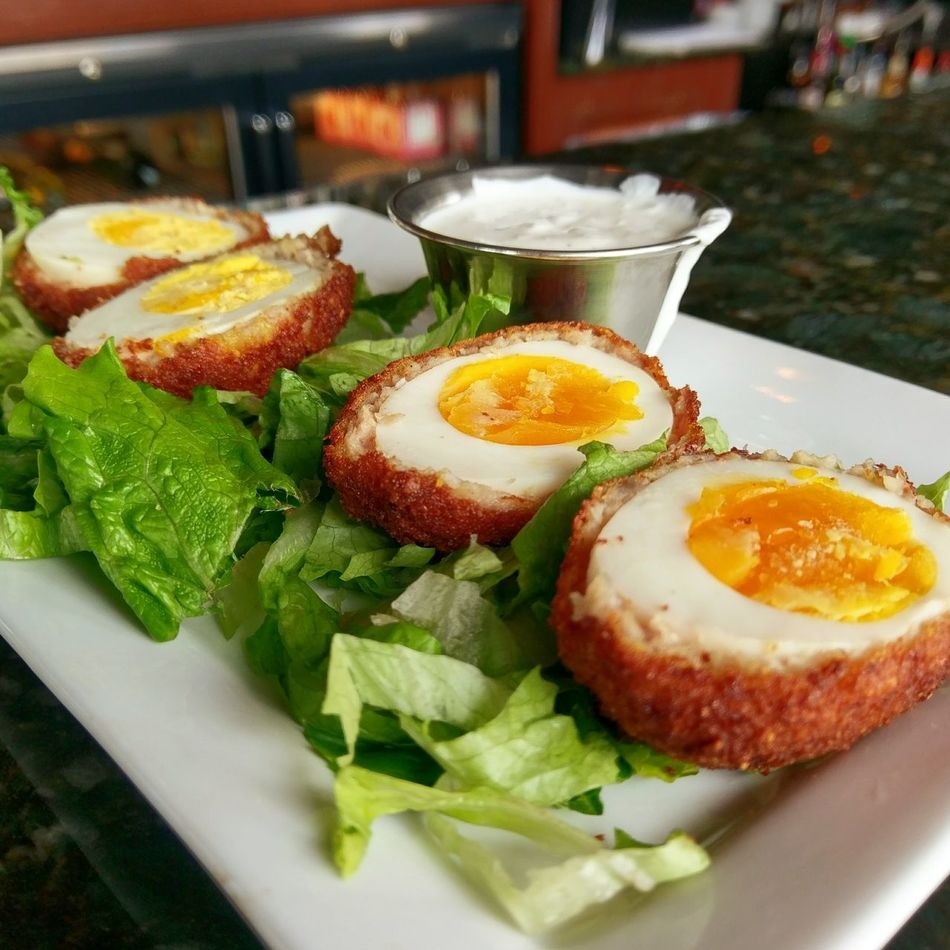 Scotch Eggs! Food Food And Drink Freshness Fried Egg Toasted Bread Egg Yolk Day Close-up Appetizer Appetizing  Ready-to-eat