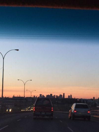 Outline Sunset City Sky Clear Sky Nature