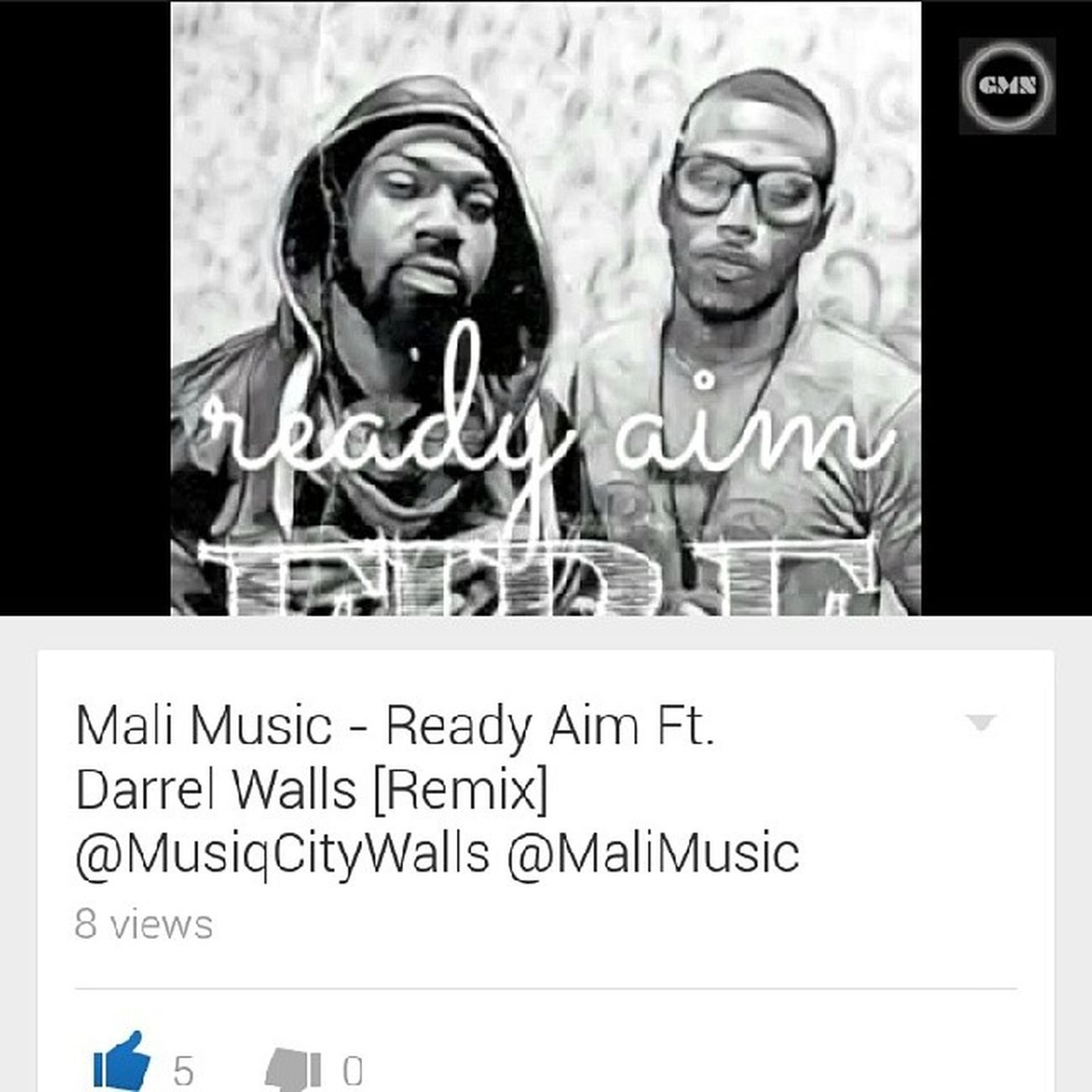 So yeah.... @MaliMusic & @MusiqCityWalls just Putfireonem with this ReadyAim remix! ???????