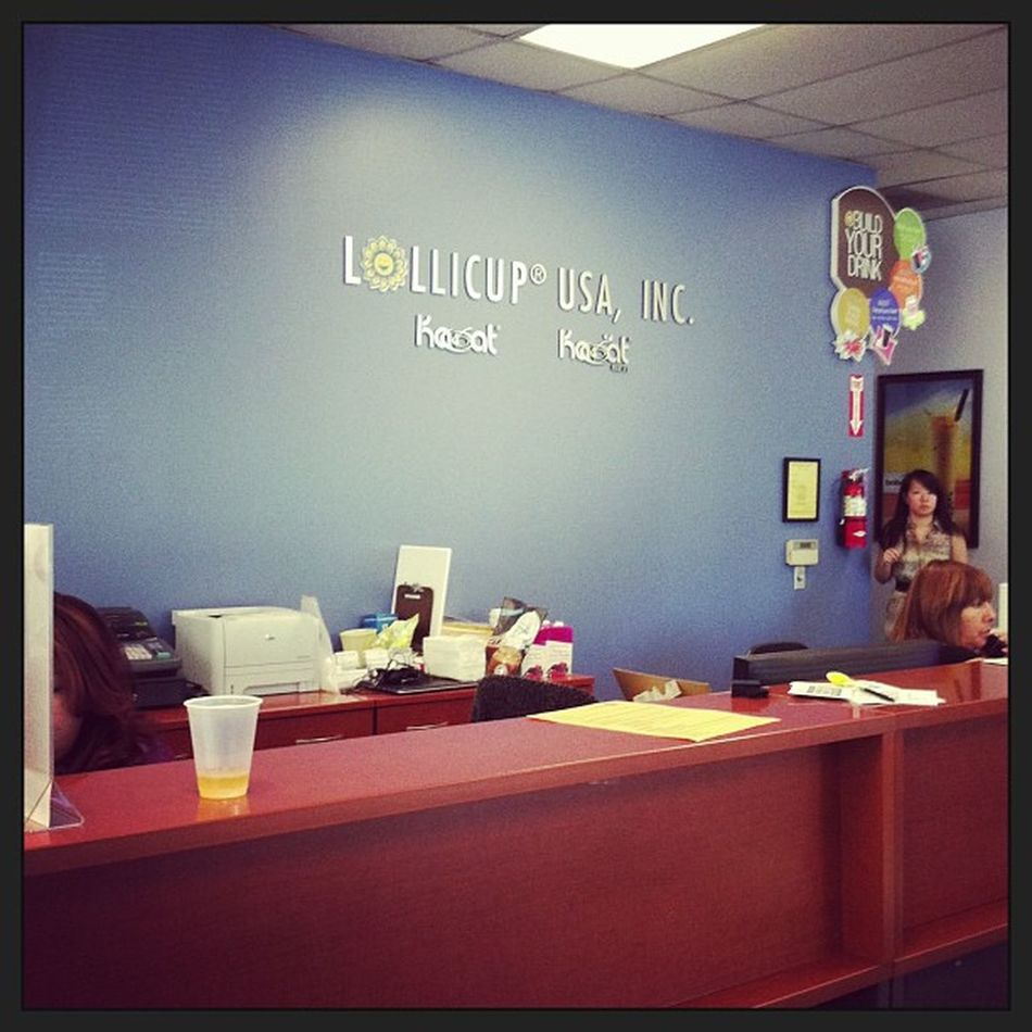 Yup I'm at the Lollicup  headquarters Manufacturer ... Worldwide Company
