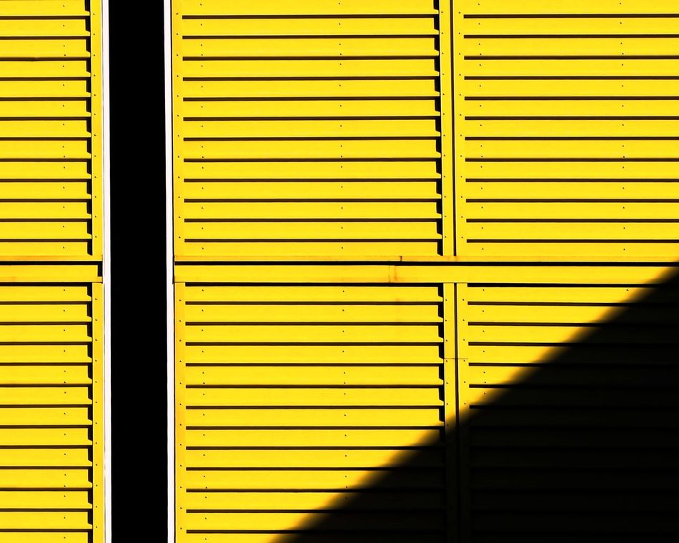Architecture Architecture_collection Backgrounds Building Exterior Close-up Day Full Frame Indoors  Metal Minimal Minimalism Minimalist Architecture No People Pattern Shutter Yellow Welcome To Black