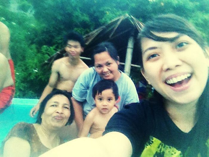 Take a bath with hot water with my new family ^^